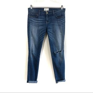 Current Elliott The Rolled skinny Wagger jeans